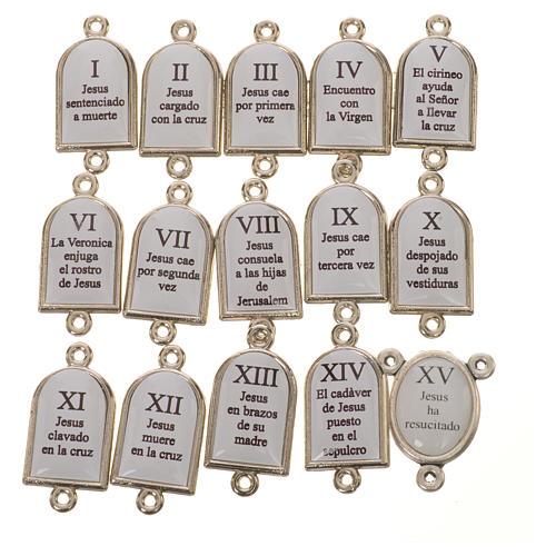 Pater et médaille Chemin de Croix ESP 15 pcs 2