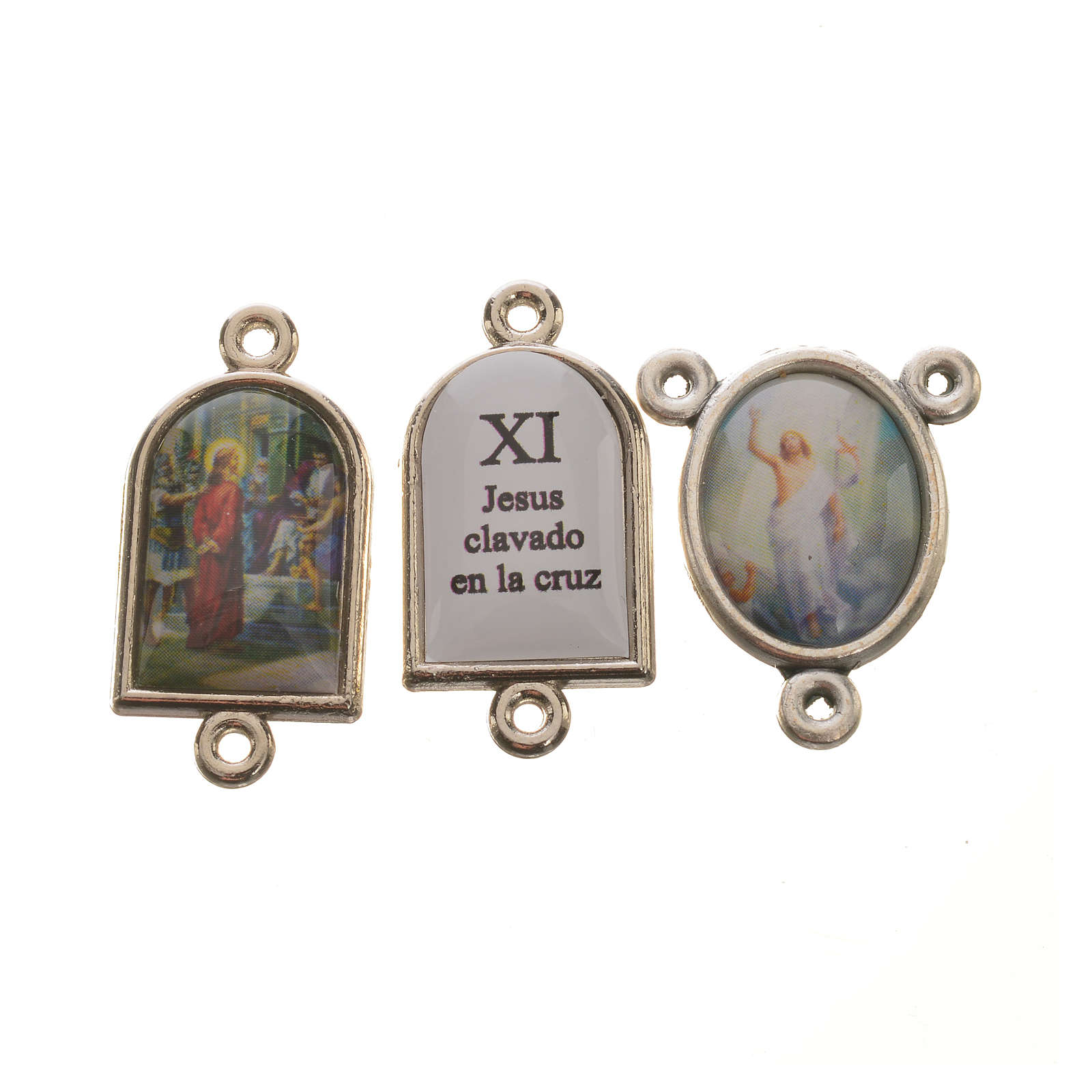 Pater and medal Way of the Cross SPANISH 15pcs 4