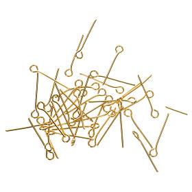 Clous métal doré pour chapelet à réaliser soi-même s1