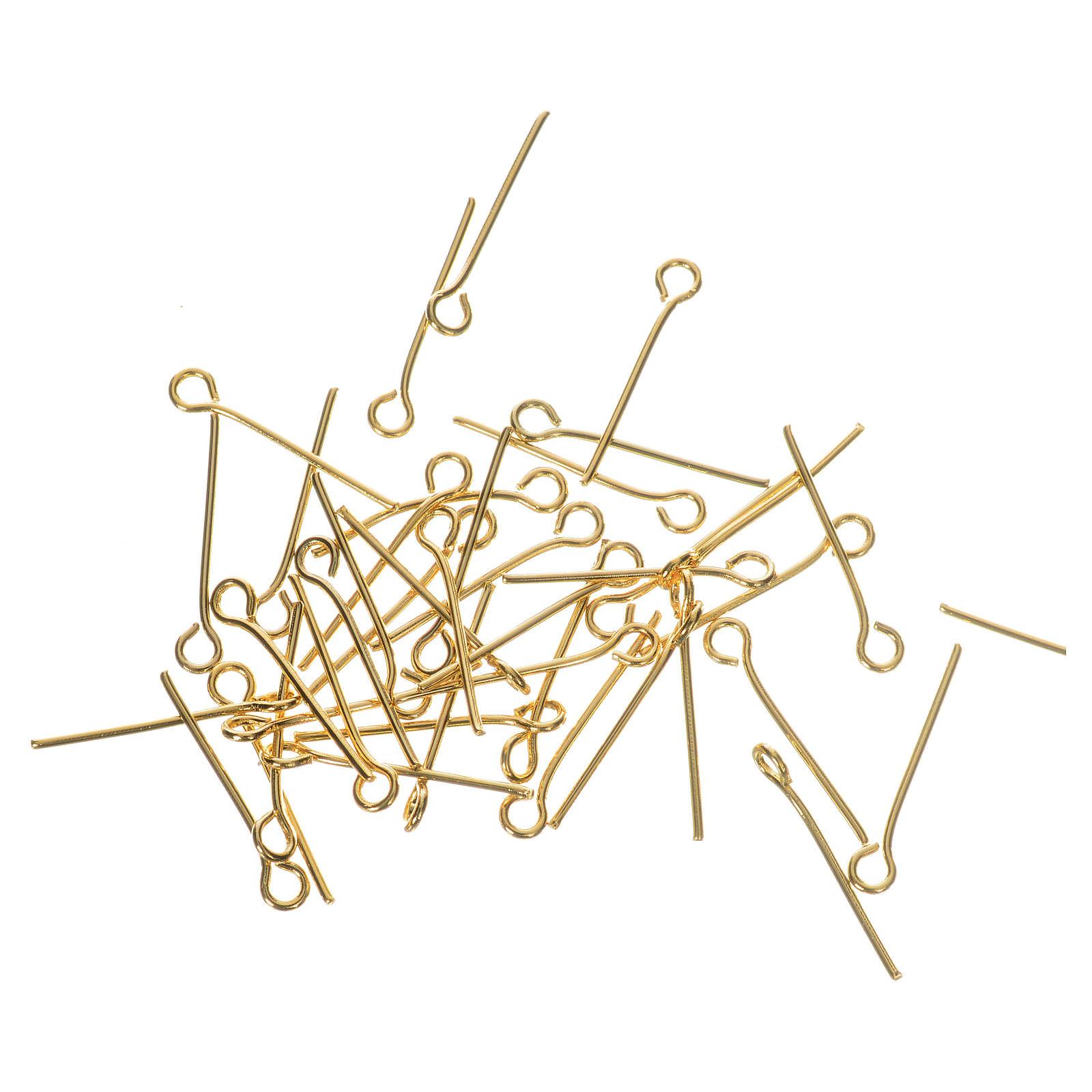 Gancetti metallo dorato Rosari fai da te 4