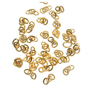 Rosary parts: Chains for rosaries in golden metal, 3 links