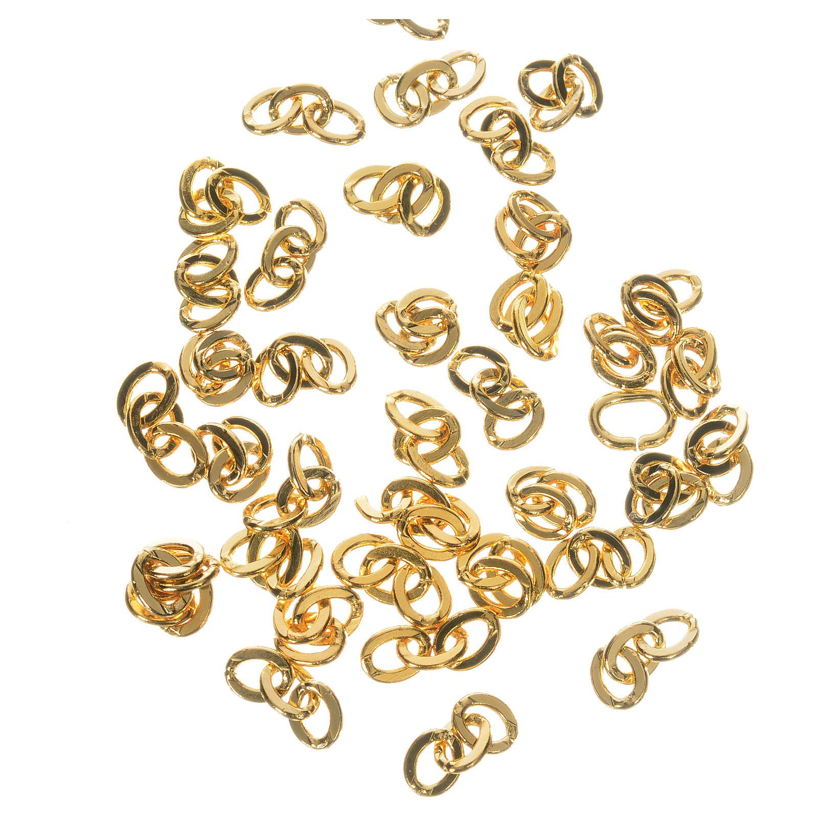 Cadena 3 eslabones de metal dorado 4