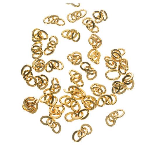 Cadena 3 eslabones de metal dorado 1