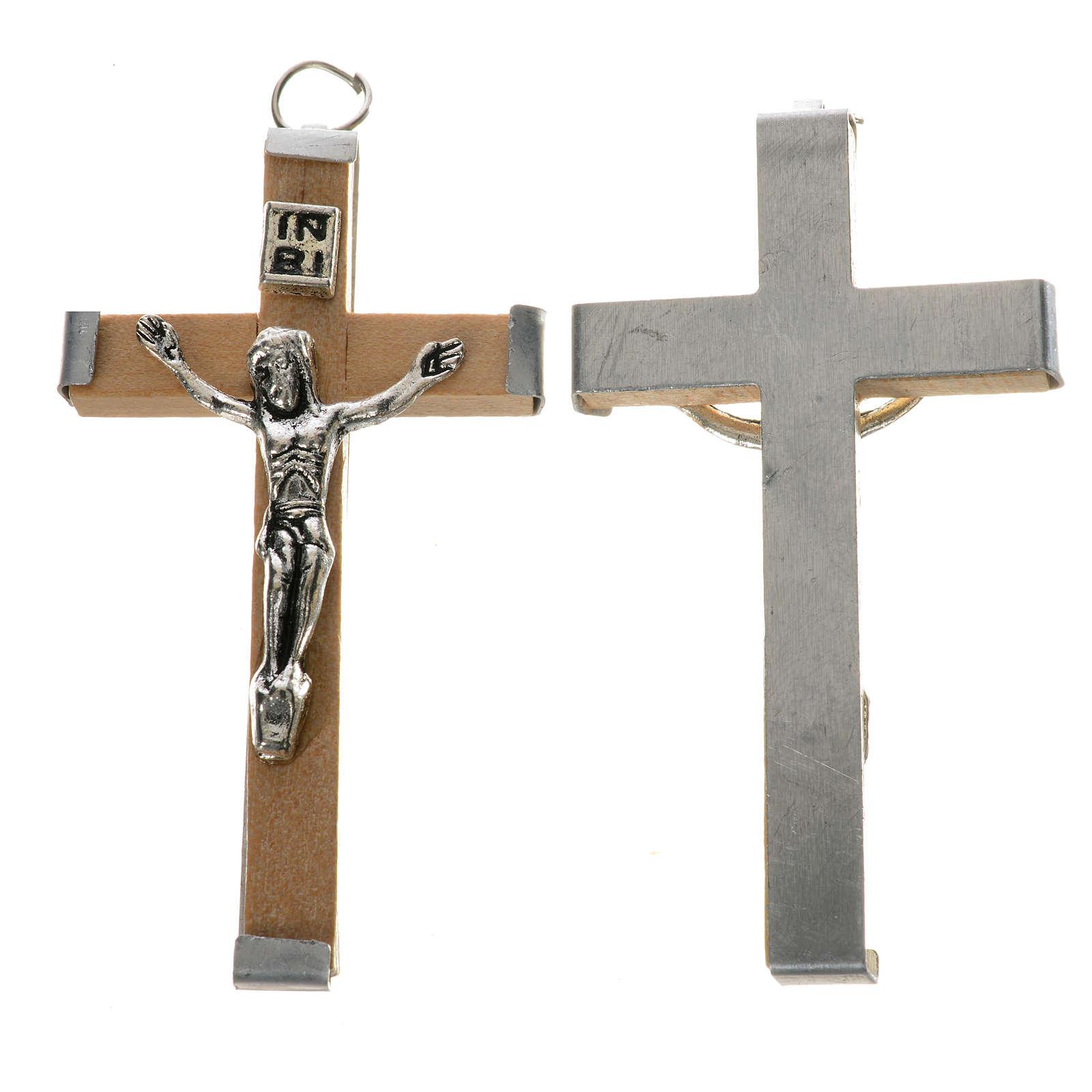 Cruz de madera natural 5,7 cm 4