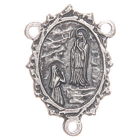 Rosary parts: Medal for DIY rosary with Our Lady of Lourdes and Saint Bernadette