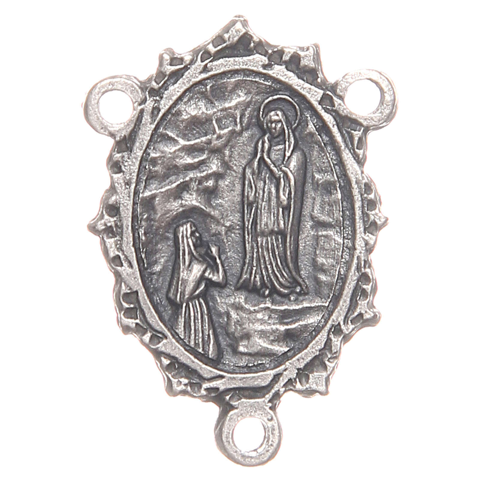 Medal for DIY rosary with Our Lady of Lourdes and Saint Bernadette 4