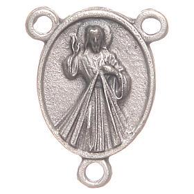 Médaille chapelet Pape François et Christ Miséricordieux s2