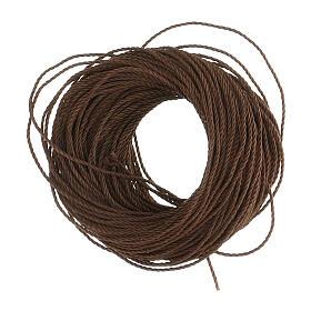 Cuerda marrón para rosarios hecho con bricolaje (12 rosarios) s1