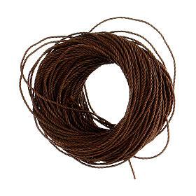 Cuerda marrón para rosarios hecho con bricolaje (12 rosarios) s2