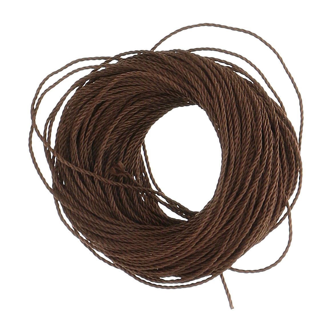 Corda castanha para montagem de terços (suficiente para 12 terços) 4