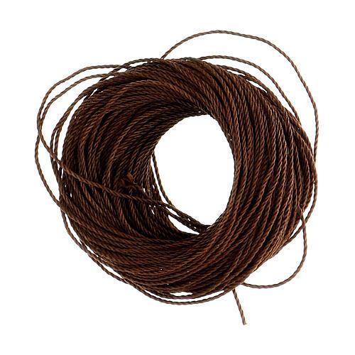 Corda castanha para montagem de terços (suficiente para 12 terços) 2