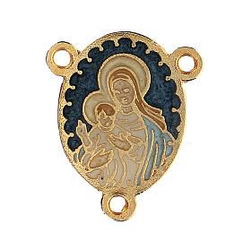 Médaille Vierge à l'Enfant émaillée s1