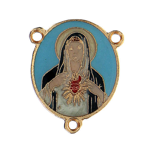 Cruce esmaltado Virgen Sagrado Corazón 4