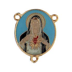 Cruce esmaltado Virgen Sagrado Corazón s1