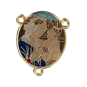 Enamelled pendant Virgin Mary with Baby  s1