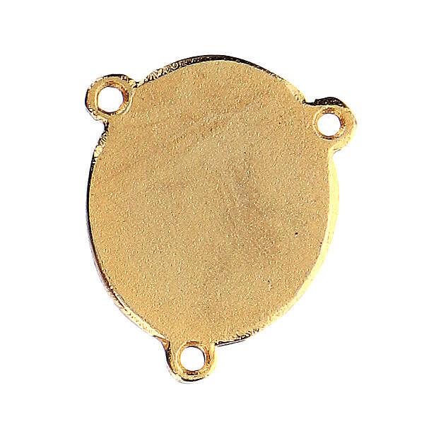 Enamelled pendant Our Lady of Lourdes and Bernadette 4
