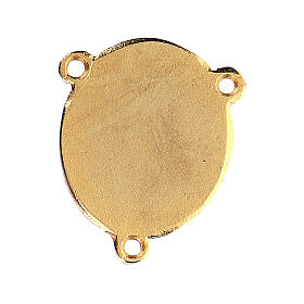 Enamelled pendant Our Lady of Lourdes and Bernadette s2