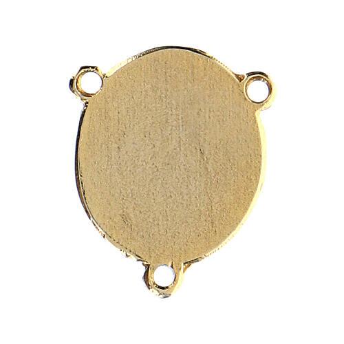 Médaille émaillée Padre Pio 2