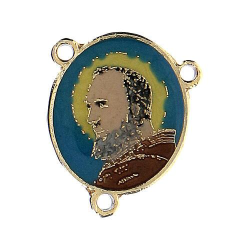 Łącznik emaliowany Ojciec Pio 1