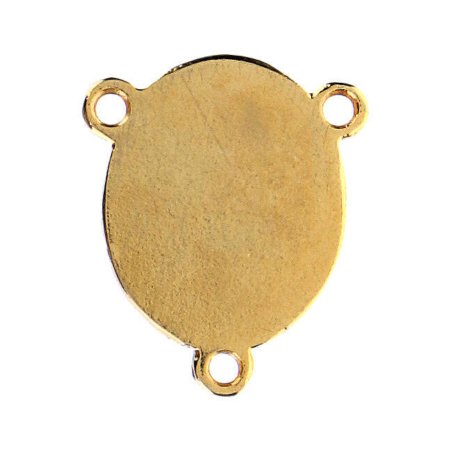Łącznik złoty kolor emaliowany Madonna z Dzieciątkiem 4