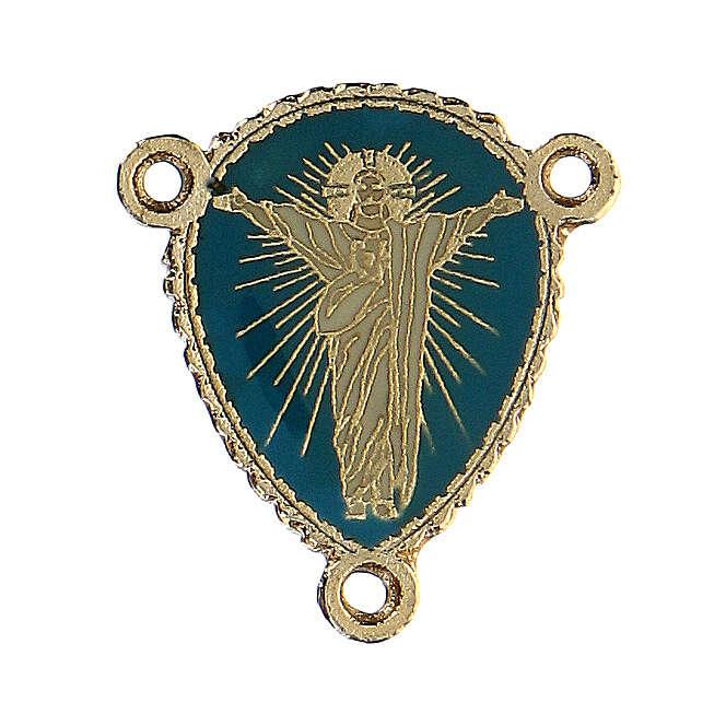 Cruce rosario Cristo resucitado esmaltado 4