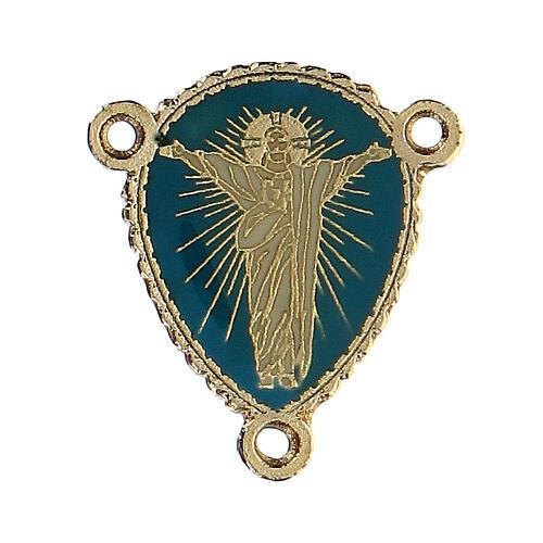 Crociera rosario Cristo risorto smaltata 1