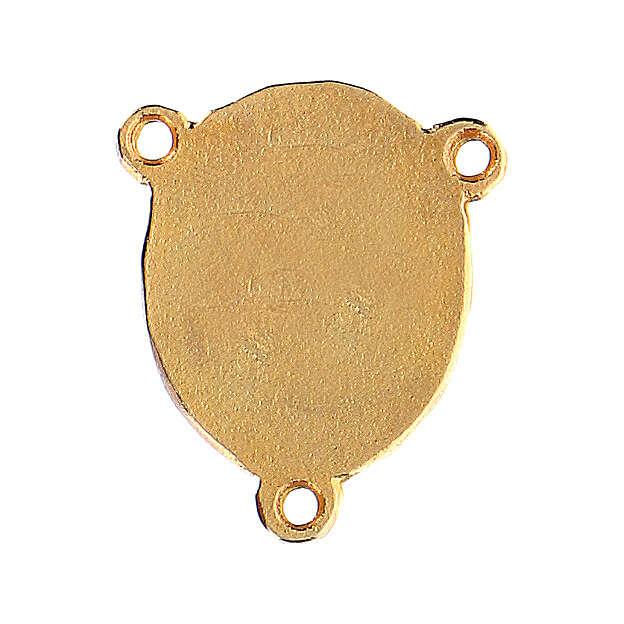 Médaille Vierge à l'Enfant fond rose 4