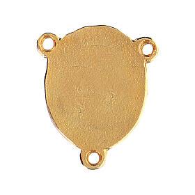 Médaille Vierge à l'Enfant fond rose s2