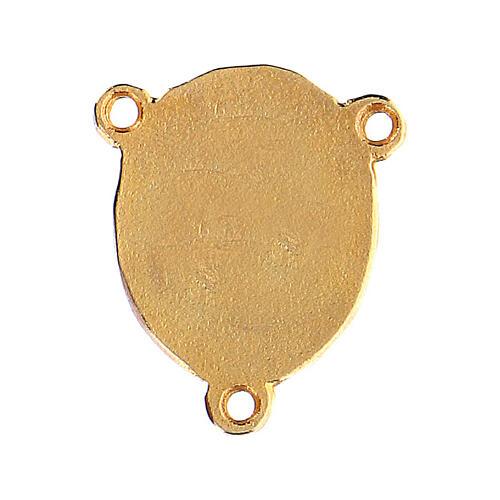 Médaille Vierge à l'Enfant fond rose 2
