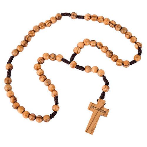 Holyland olive wood rosary 1
