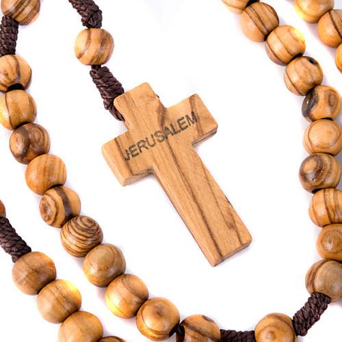 Holyland olive wood rosary 3