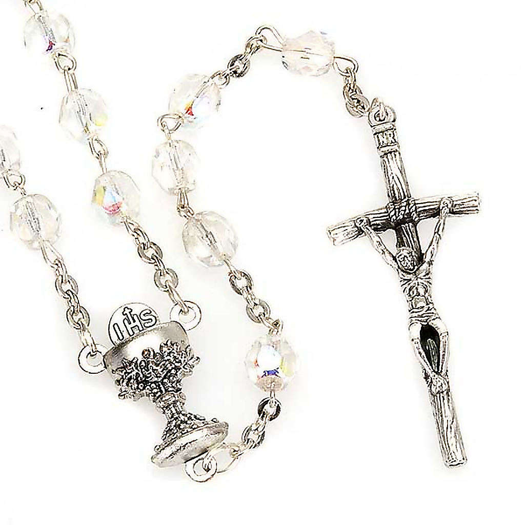 Iridescent glass rosary 4