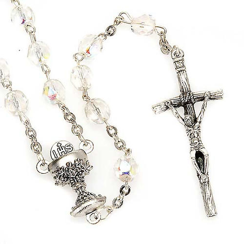 Iridescent glass rosary 1
