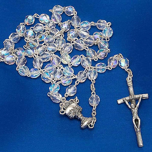 Iridescent glass rosary 5