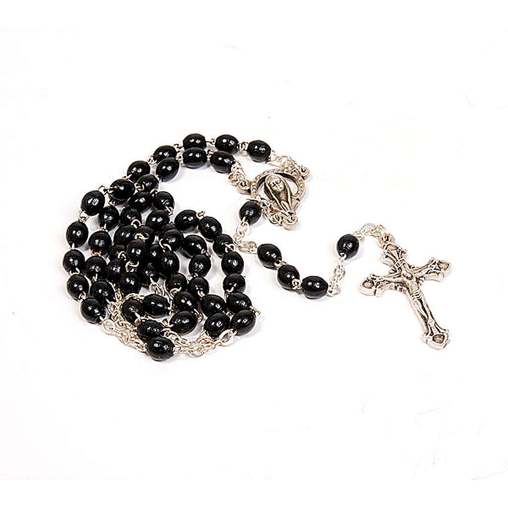 Rosary with black beads 4