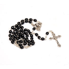 Rosary with black beads s1