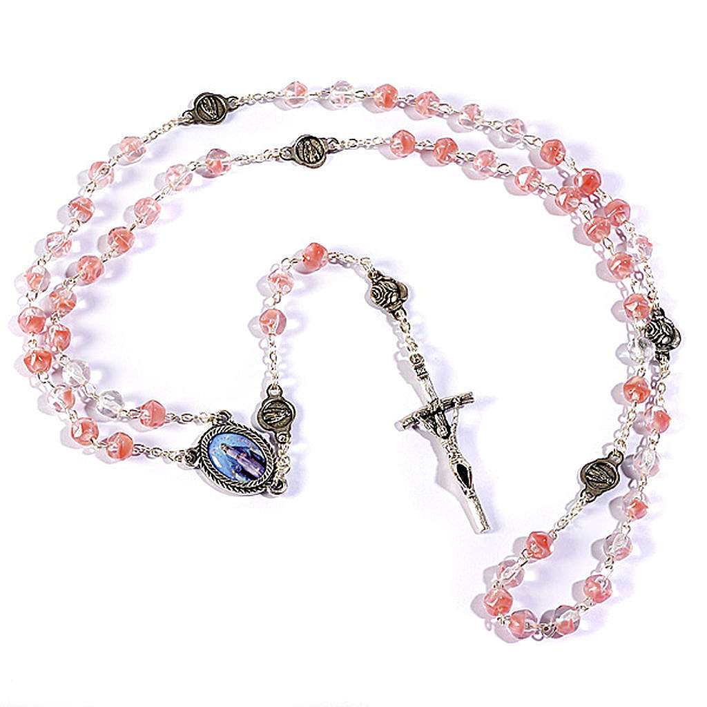 Pink rosary beads 4