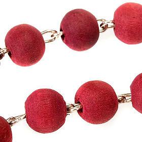 Rosario profumato rosa croce metallo s3