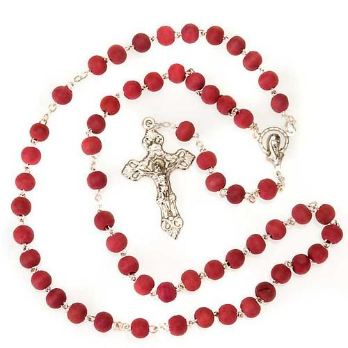 Rosario profumato rosa croce metallo 2