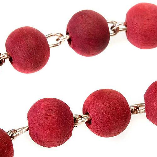 Rosario profumato rosa croce metallo 3