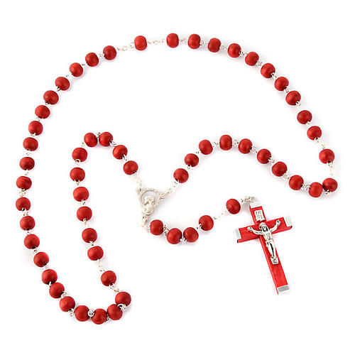Rosario e croce profumato rosa 1