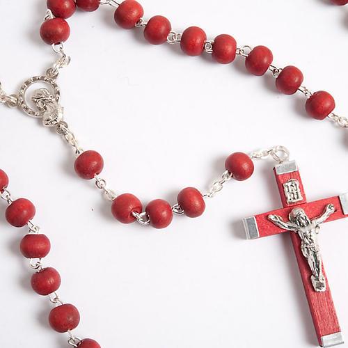 Rosario e croce profumato rosa 3