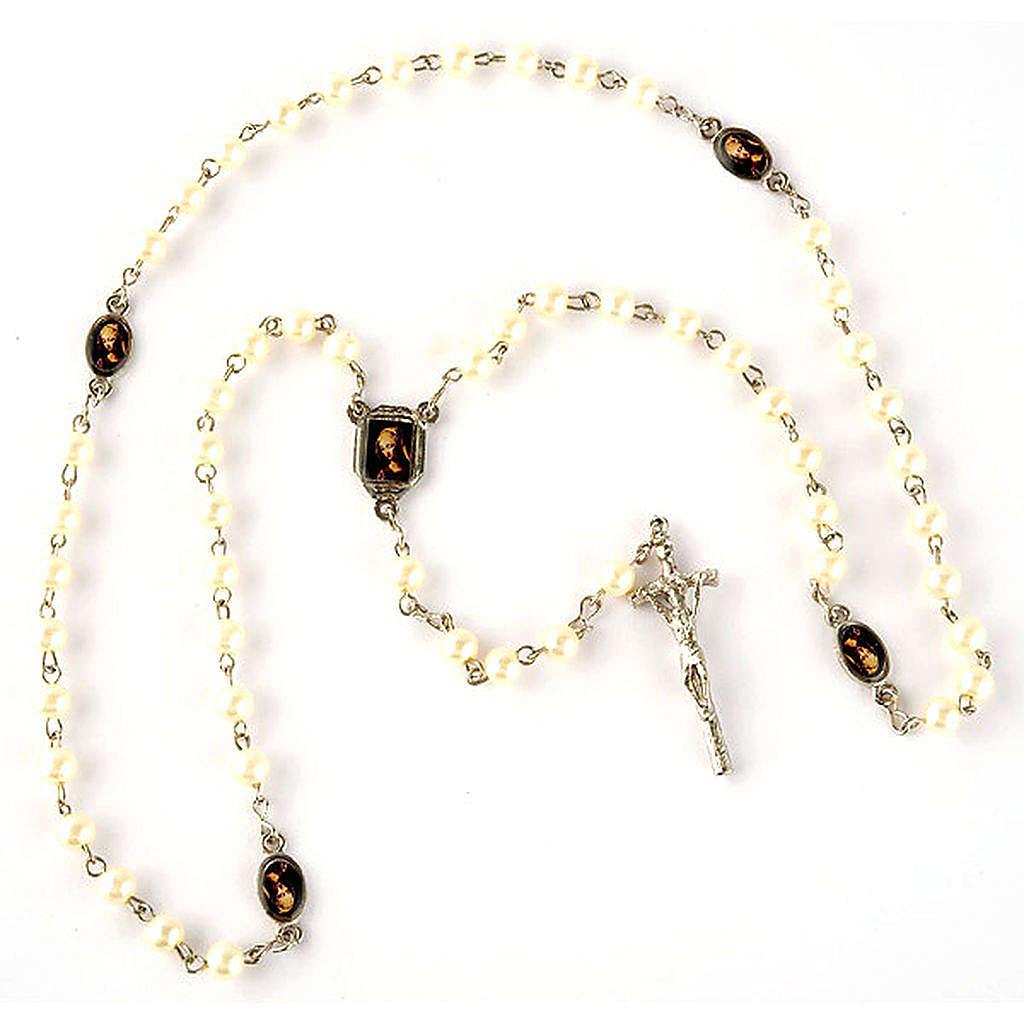 Rosario simil perla immagini (diam. 20) 4