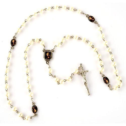 Rosario simil perla immagini (diam. 20) 3