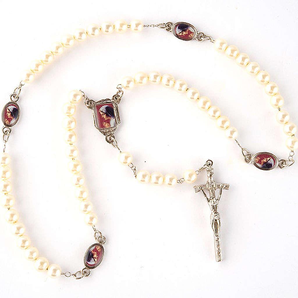 Chapelet avec perles, images, diam. 14 cm 4