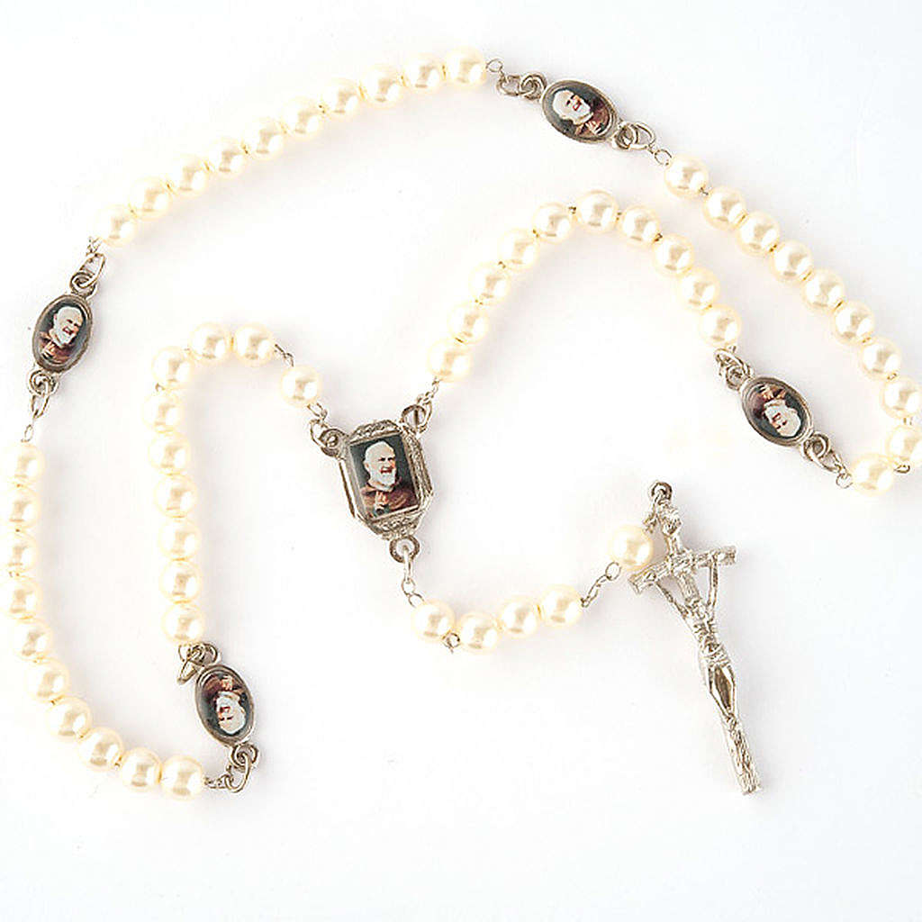 Pearled rosary with images (14 diam) 4