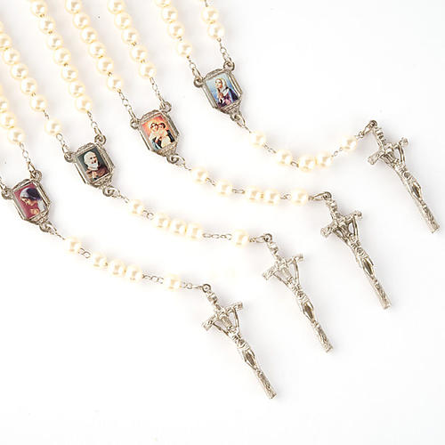 Pearled rosary with images (14 diam) 1