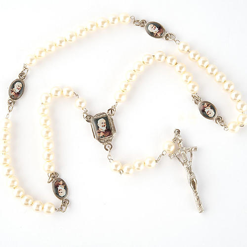 Pearled rosary with images (14 diam) 2