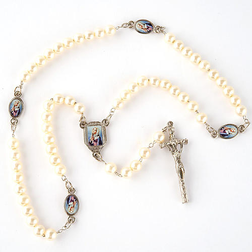 Pearled rosary with images (14 diam) 3