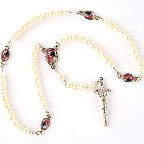 Pearled rosary with images (14 diam) 5